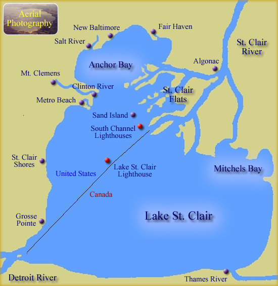 Map of  Lake St. Clair
